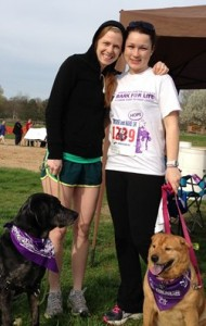 "At right, Dr Morgan Peterman (L)with ""Josie"" and Kristen Wilson (R), our Team Captain with ""Chasity""."