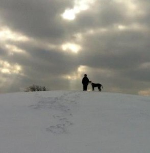 david and mordecai walking in snow v 3