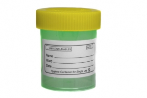 Yellow green specimen sample container