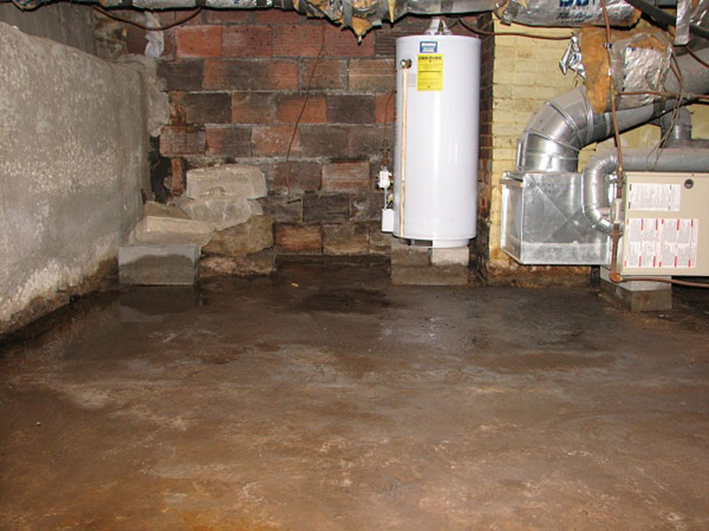 standing water basement