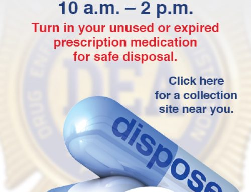 DEA Prescription Drug Take Back Day is April 29