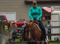 Amanda on her horse, volunteering at 4-H event