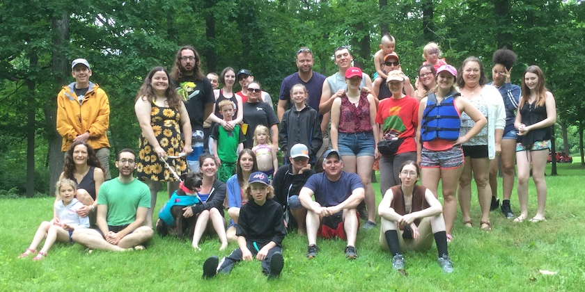 annual canoe trip 2019 group photo