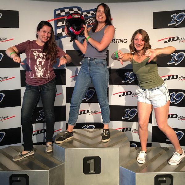 go-kart racing podium