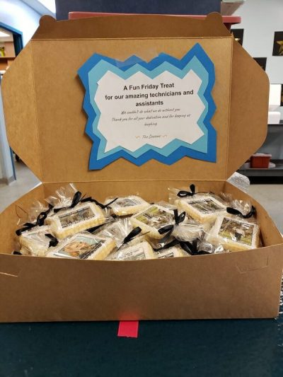 box of cookies for veterinary technician appreciation week